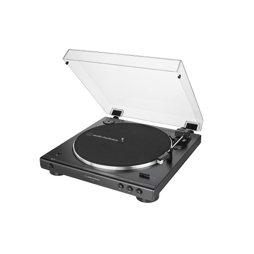 Audio Technica ATLP60XBT Fully Automatic Bluetooth Wireless Belt-Drive Stereo Turntable Black Side View