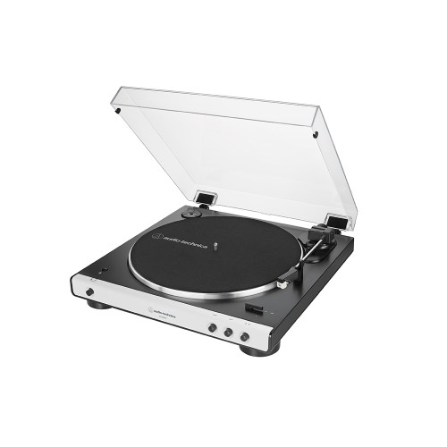 Audio Technica ATLP60XBT Fully Automatic Wireless BeltDrive Stereo Turntable White Side View