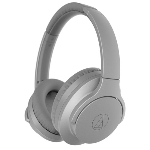 Image of Audio Technica ATHANC700BT Noise Cancelling Wireless Bluetooth QuietPoint Headphones Grey - Open Box