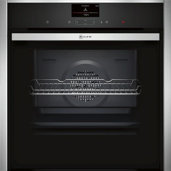 Neff B57CS24N0B Slide and Hide Electric Single Oven in Stainless Steel