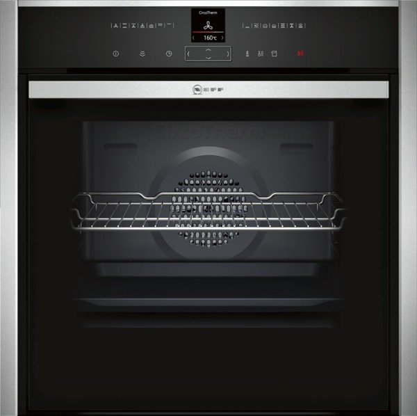 Neff B57VR22N0B Slide and Hide Electric Single Oven in Stainless Steel with VarioSteam