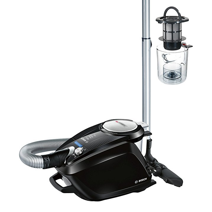 Stockists of Bosch BGS5SIL2GB ProSilence 66 Bagless Cylinder Vacuum Cleaner Black