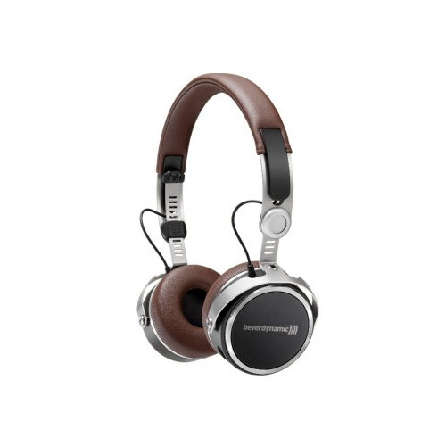 Image of Beyerdynamic Aventho Wireless Mobile Tesla Bluetooth headphones with sound personalization (closed) Brown