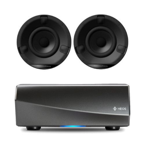 Denon HEOS Amp HS2 Wireless Multiroom Amplifier WIth Bowers & Wilkins CCM632 Ceiling Speakers