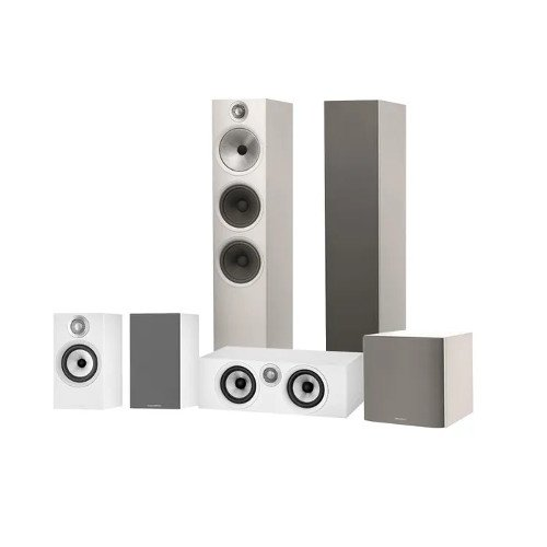 Bowers & Wilkins 603 607 S2 Anniversary Edition HTM6 S2 Anniversary Edition and ASW608 Speaker Package White
