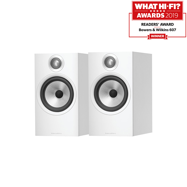 Bowers & Wilkins 607 Bookshelf Speakers Pair White