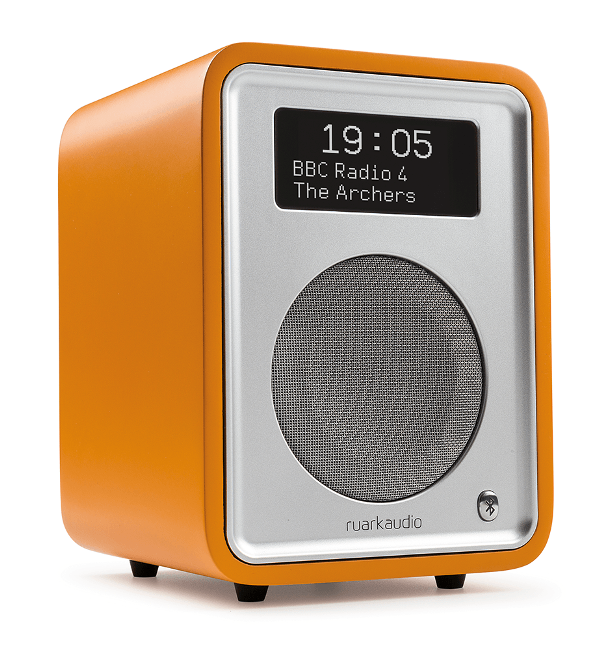Image of Ruark R1 MK3 Deluxe table top radio with Bluetooth in Burnt Saffron Limited Edition
