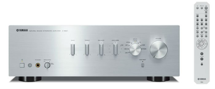 Yamaha AS501S Integrated Amplifier in Silver front