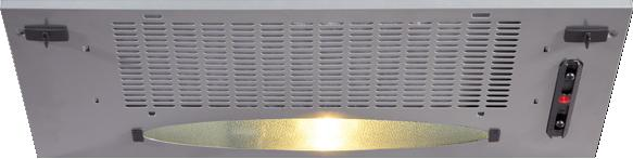 CDA CCA5SI 52cm Canopy Hood in Silver with With 5Yr Parts Guarantee