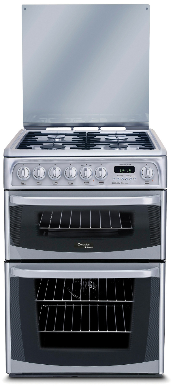 Hotpoint Cannon CH60DHSFS 60cm Dual Fuel Cooker in Silver with FSD