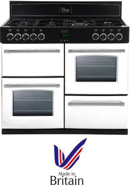 Belling CLASSIC1000DFTCBIBR 100cm Dual Fuel Range Cooker in Icy Brook