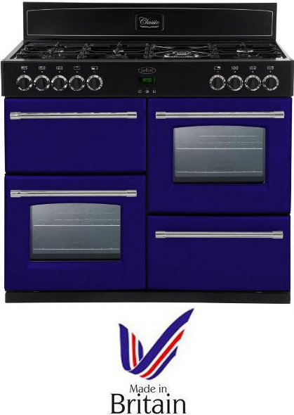 Belling CLASSIC1000DFTCBMGA 100cm Dual Fuel Range Cooker in Midnight Gaze