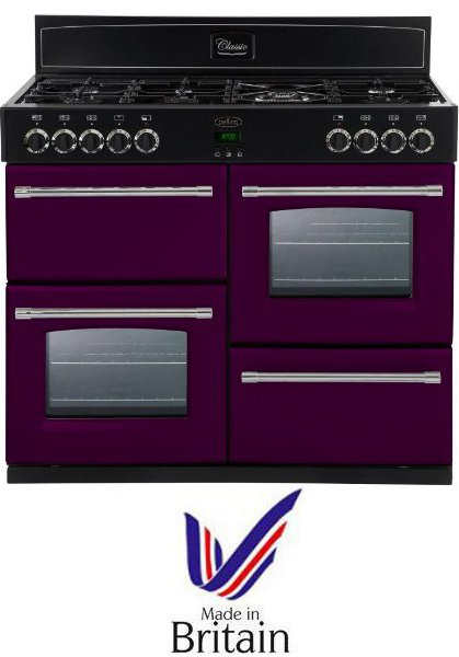 Belling CLASSIC1000DFTCBWBE 100cm Dual Fuel Range Cooker in Wild Berry