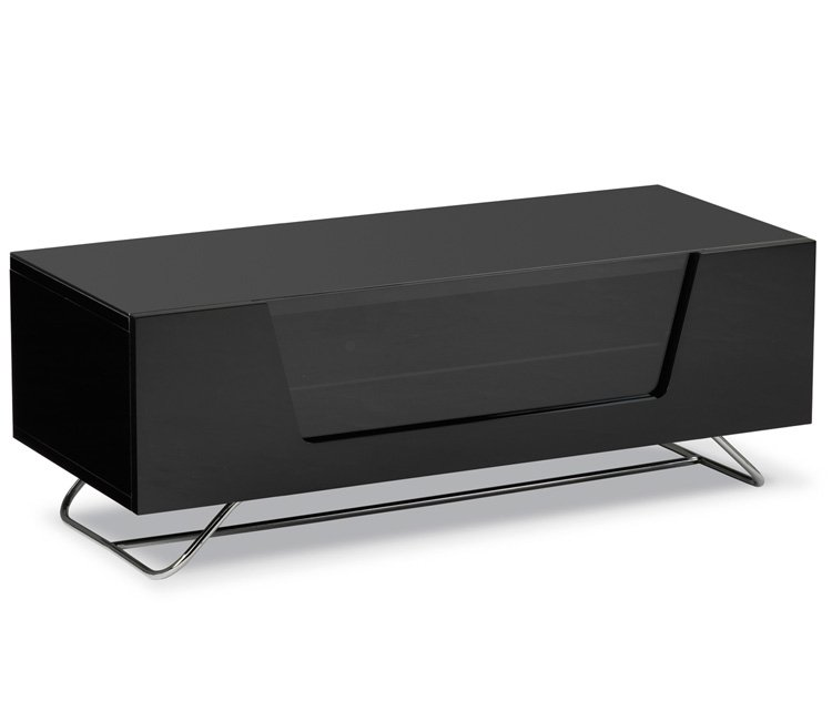 Alphason Chromium 2 CRO2-1000CB-BLK TV Stand in Black for Screens up to 50''
