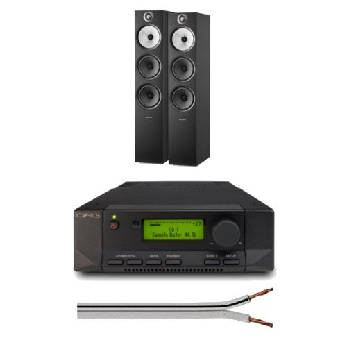 Cyrus 82 DAC Integrated Amplifier QXR Version with Bowers and Wilkins 603 S2 Anniversary Edition Floorstanding Speakers Free 6 Metre Speaker Cable