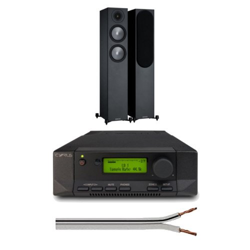 Cyrus 82 DAC Integrated Amplifier QXR Version with Monitor Audio Bronze 200 Floorstanding Speakers with Free 6 Metre Speaker Cable