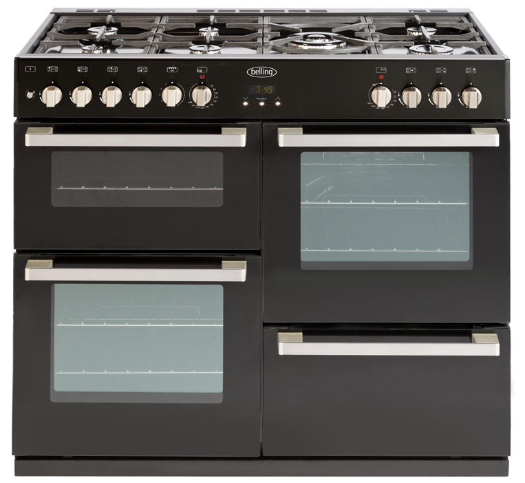 Belling DB4100 100cm Dual Fuel Range Cooker in Black