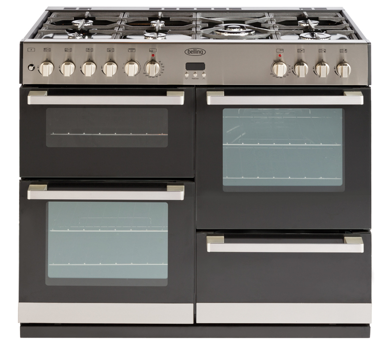 Belling DB4100 100cm Dual Fuel Range Cooker in Stainless Steel