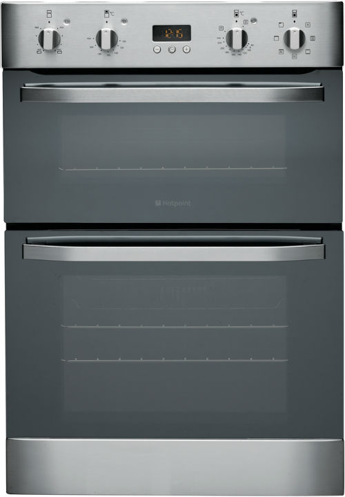Hotpoint DH93CXS 60cm Wide Built In Electric Double Oven in Stainless Steel