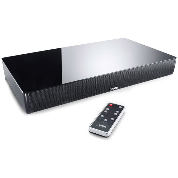 Canton DM55 2.1 Virtual Surround Sound Soundbase in Black for Small to Medium Sized TVs