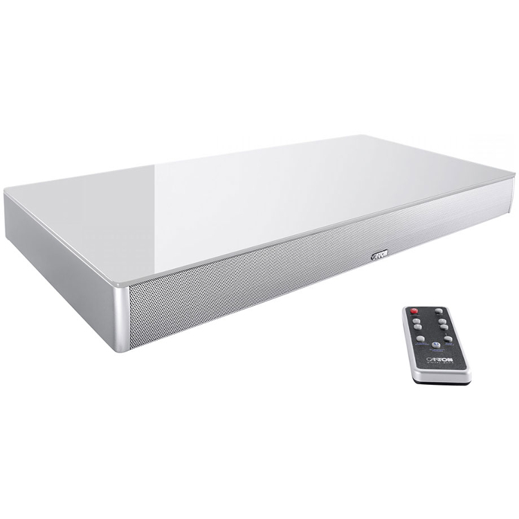 Canton DM55 2.1 Virtual Surround Sound Soundbase in White for Small to Medium Sized TVs