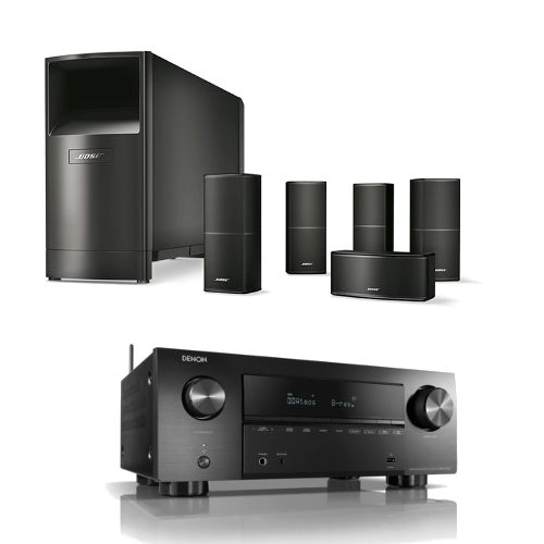 Amplifiers & Receivers Denon AVCX3700H 9.2ch 8K AV Amplifier with Bose Acoutimass 10 Series 5.1 Home Cinema Speaker Package Black