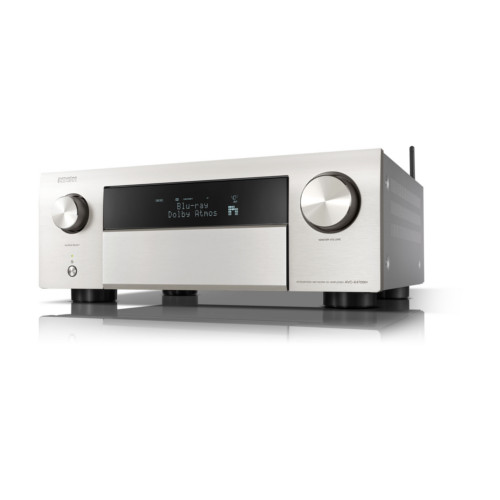Denon AVCX4700H 9.2ch 8K AV Receiver with Dolby Atmos, HEOS Built-in and Voice Control Silver