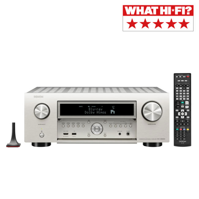 Denon AVCX6500H 11.2 Channel Network AV Receiver with Dolby Atmos 4K Ultra HD IMAX Enhanced Alexa & HEOS Built-in Silver