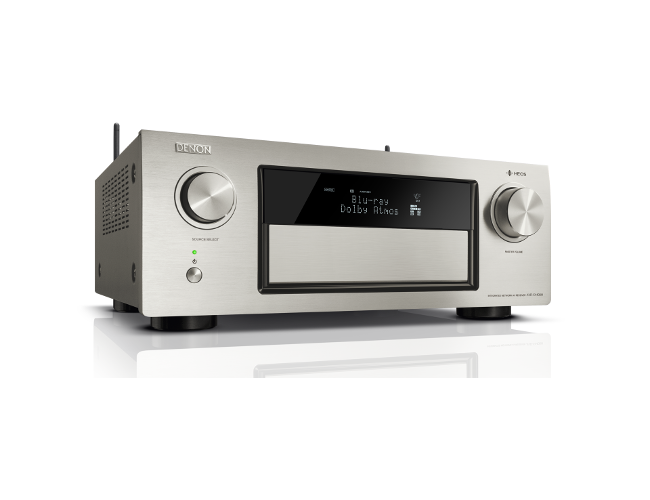 Denon AVRX4400H 9.2 Channel AV Receiver in Silver with WiFi and Heos
