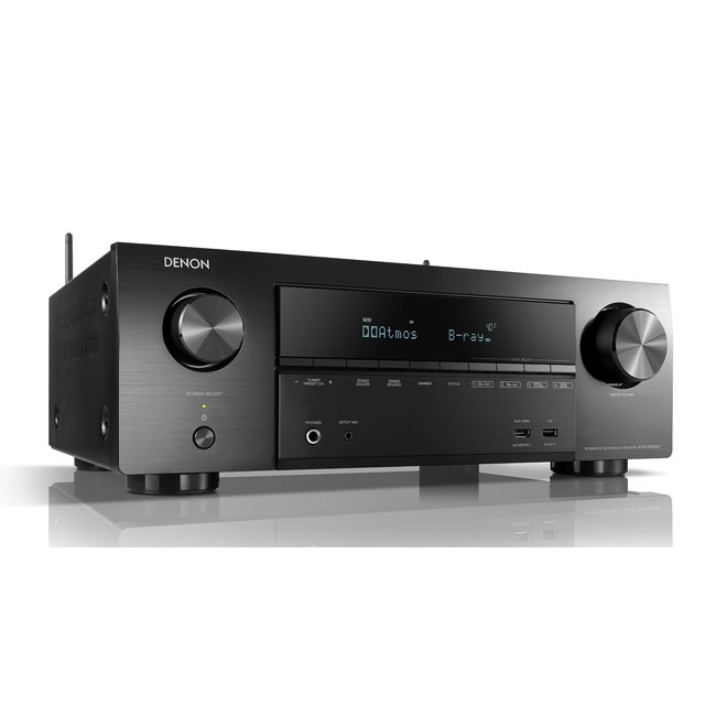 Denon AVRX1600H 7.2ch 4K Ultra HD AV Receiver with 3D Audio and HEOS Built-in