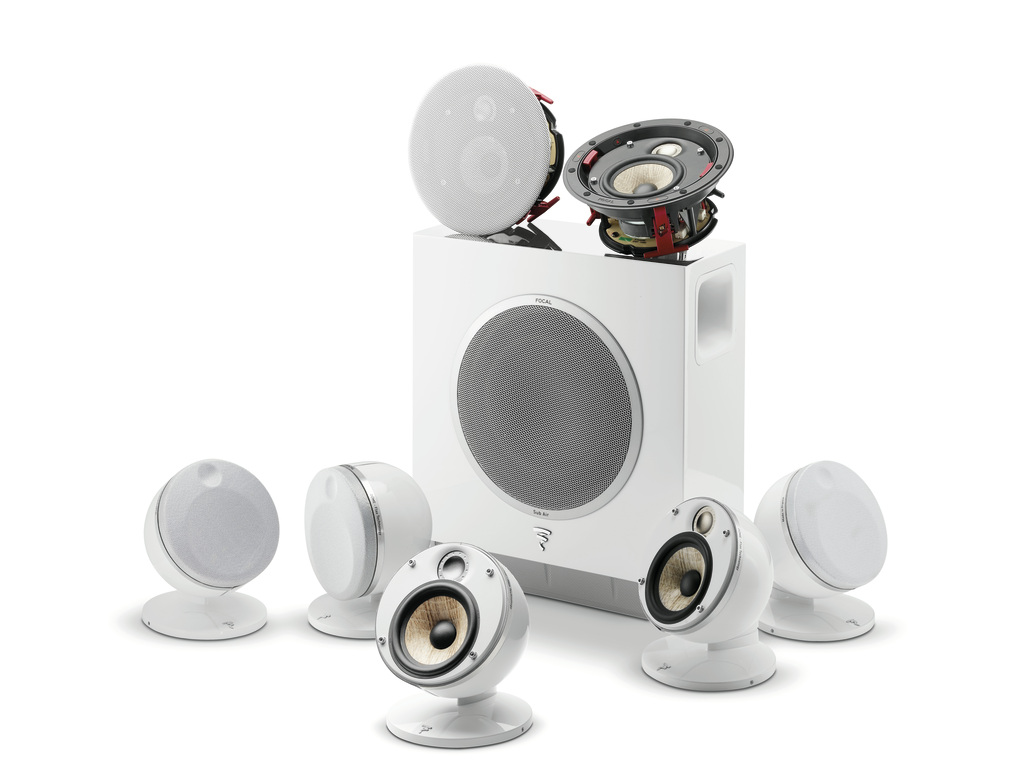 Focal Dome Flax 5.1.2 Home Cinema System in White