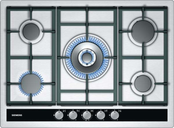 Siemens EC745RC90E iQ500 70cm Extra Wide Gas Hob in Stainless Steel