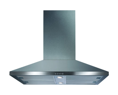 CDA ECHK90SS 90cm Wide Chimney Island extractor In Stainless Steel