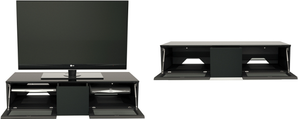 Stockists of Alphason EMT1250CB Element Cabinet with IR Friendly Doors in High Gloss Black