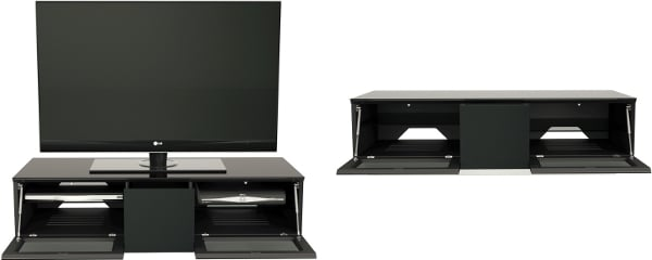 Alphason EMT1250CB Element Cabinet with IR Friendly Doors in High Gloss Black