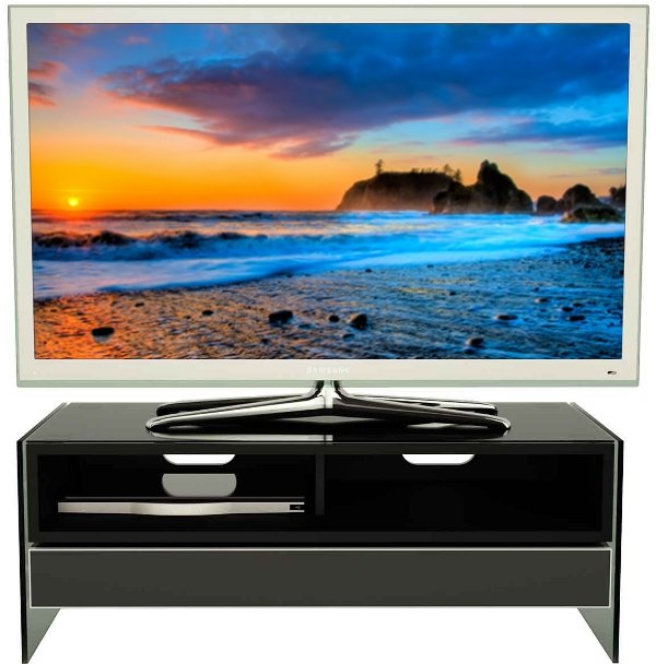 Alphason EVT1000-BLK EVENT TV Stand with Built-in Sound