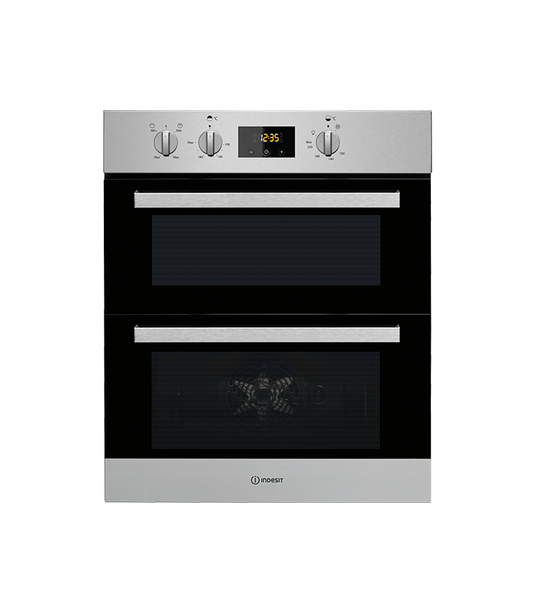 Indesit INDESIT IDU 3640 IX Electric Built Under Double Oven Stainless Steel Stainless Steel