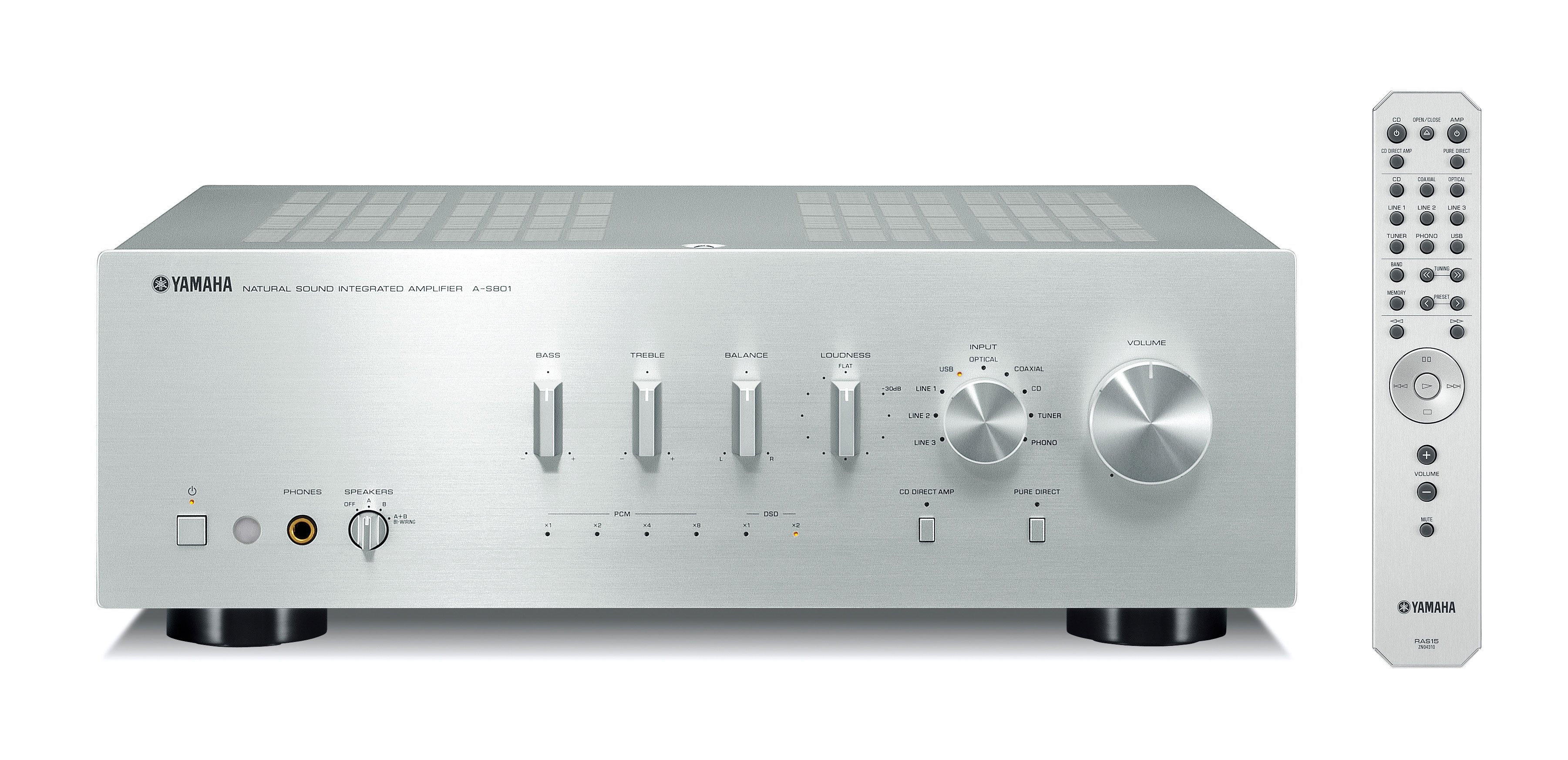 Yamaha AS801 Amplifier in Silver