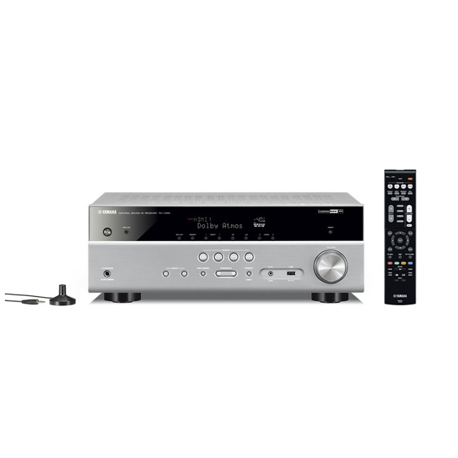 Image of Yamaha MusicCast RXV585 7.2 Channel AV Receiver 3 Year Warranty in Titanium Focal Dome Flax 5.1.2 Home Cinema System in White