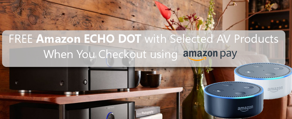 Free Amazon Echo Dot with Selected AV Products