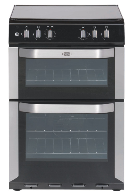 Belling FSDF60DO 60cm Dual Fuel Cooker in Stainless Steel  3 Year Warranty via Registration