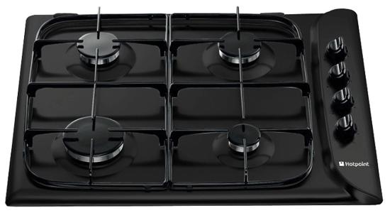 Hotpoint G640SK Style 60cm Gas Hob in Black