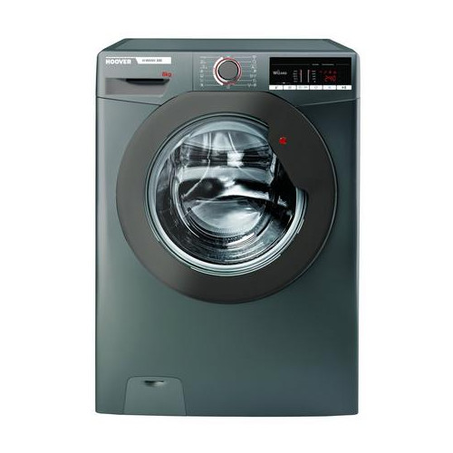 Hoover H3W58TGGE 8kg 1500 spin Washing Machine with NFC Connection Graphite