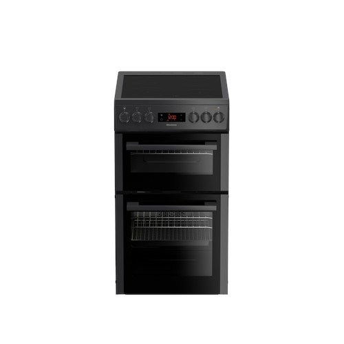 Blomberg HKS951N 50cm Double Oven Electric Cooker with Ceramic Hob Anthracite