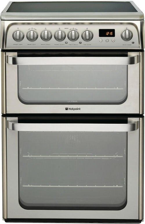 Hotpoint HUE61XS 60cm Wide Electric Cookers in Stainless Steel