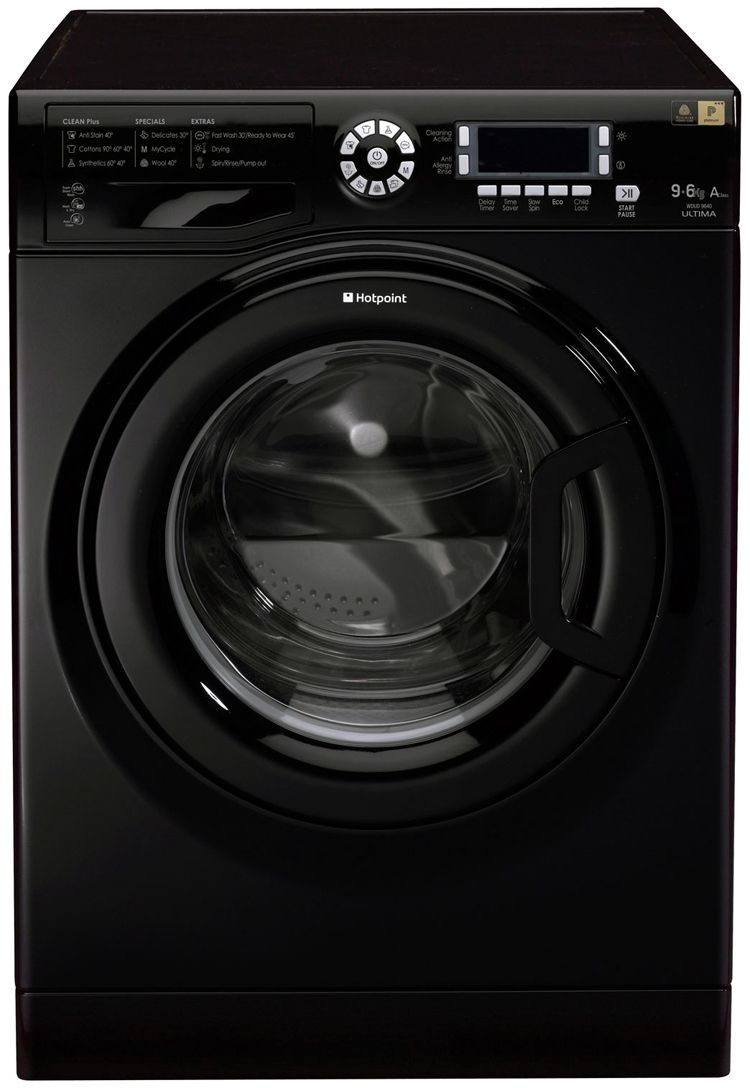 Hotpoint WDUD9640K Ultima 9Kg Washer Dryer in Black with 6Kg Drying Capacity