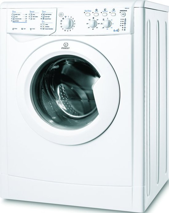 Indesit IWDC6105 6Kg Washer Dryer in White with 1000rpm Spin
