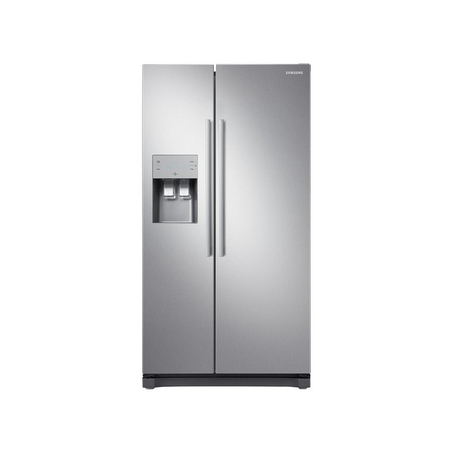 Samsung RS50N3513SL Freestanding American Style Fridge Freezer -frontview