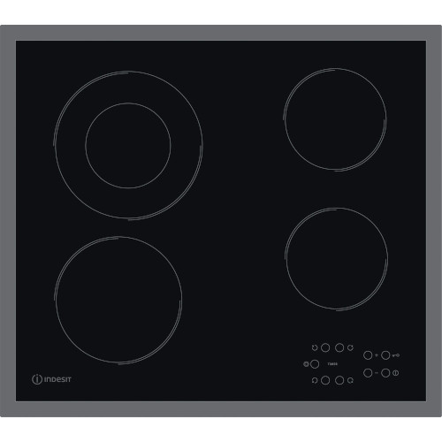 Indesit RI261X Electric Hob Black