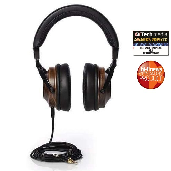 KLH KLHF00038 Ultimate One Over-Ear Wired Headphones Ebony